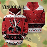Christmas  Deadpool Marvel 3D Hoodies Men Streetwear Hip Hop Warm Hooded