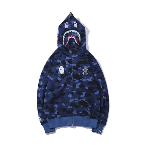 Camouflage Blue Sanitary Clothes  Christmas  Men Sweatshirt