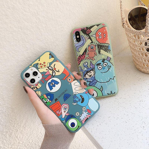 Hot Monsters Soft silicon phone case for apple iphone  X XS XR MAX 11 Pro
