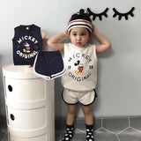 2 3 6 Years Baby Girl Clothes Mickey Kids Clothing Set Infant Toddler Boys