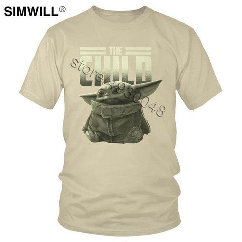 The Cute Baby Child Yoda T-Shirt Cool Kawaii Star Wars Tee Short Sleeve