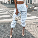 Sweat Pants for Women Loose High Waist Winter Trousers Womens Joggers Sweatpants
