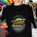 Cute Force Mandalorian Baby Yoda T shirt T-Shirt S-3XL