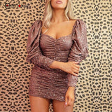 Sequin Dress Women Autumn Sexy Sparkle Glitter Party Dresses Elegant - Outfitter Style