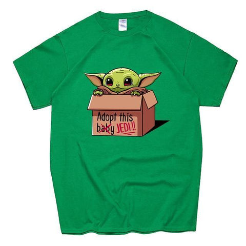 Cute Baby Yoda T Shirt Star Wars The Mandalorian Jedi T-Shirt Gift Tops
