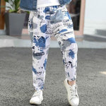 Kids Harem Pants For Boys Beach Wear Floral Print Trousers Girls Dance