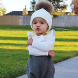 Winter Warm Newborn Baby Girl Knitting Romper 0-24M Infant Peter Pan Collar Crochet Outfits - Outfitter Style