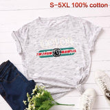 Color Buauty Plus Size T Shirts Women O Neck Summer Graphic Shirt