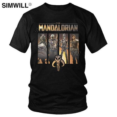 The Mandalorian T Shirt Men Movie Graphic tee