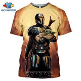 3D Baby Yoda T-shirt Star Wars The Mandalorian Tees Tops Shirt