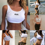 Babe Women Casual Tank Top Sportwear Vest Blouse Crop Tops
