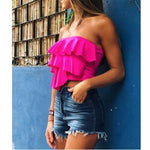 Women Sexy Elastic Tank Top Summer Ladies Strapless Bandeau Crop Tops - Outfitter Style