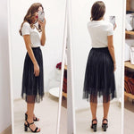 Sparkling Sequined A Line Maxi Skirt Empire Long Tulle Skirt Midi Holiday Tutu Skirt