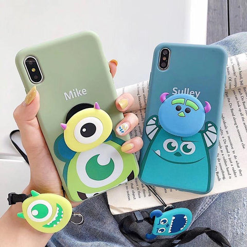 Hot Mike Mr.Q James Monsters 3D support soft silicon phone case for iphone X XS XR MAX