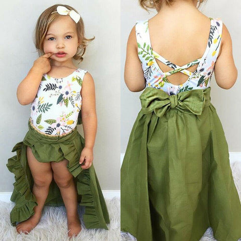 Summer 3pcs Baby Girls Clothes Sets Toddler Kids Baby Girls Shirt Tops+Shorts+Skirts Suits