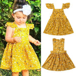 Princess Dress for Girls Summer Kids Baby Party Wedding Outfit Toddler Fly Sleeve Tutu Dresses