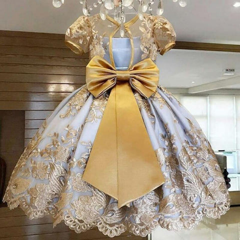Elegant New Year Princess Children Party Dress Wedding Gown Kids Dresses for Girls Party Dress