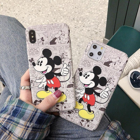 Cute cartoon Comic Minnie Mouse hard plastic phone case for iphone 8 8plus X XS XR MAX 11 Pro
