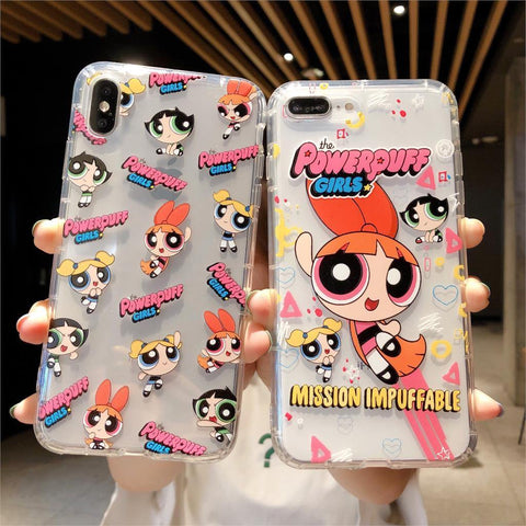 Cute Cartoon Girl Pattern Phone Case For iPhone X XR XS Max 11 Pro Max