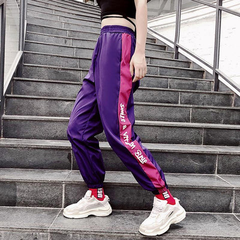 Jogger Pants Women Hip Hop High Waist Loose Harem Pants Casual Trouser