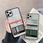 Simple Air ticket Phone Case For iphone 11 Pro Max XR XS Max X 7 8 plus