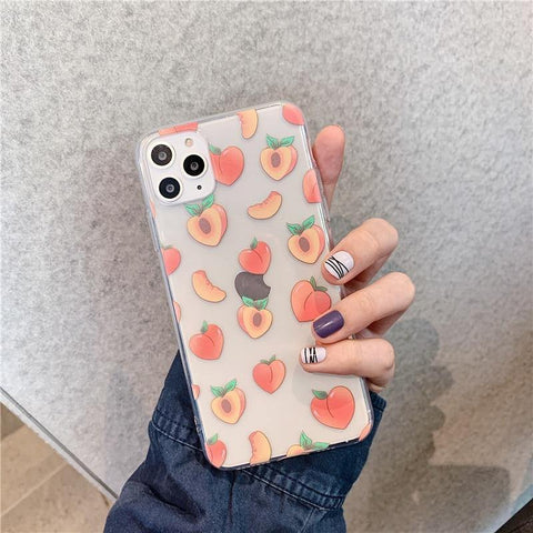 Cute Peach Phone Case For Huawei P20 Lite P30 Pro Mate 20 30 P smart y9