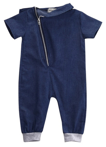 Denim Newborn Toddler Kids Baby Boys Zipper Rompers Babies Boy Jumpsuit Romper Outfits Clothes 0-3Y