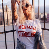 Mermaid OFF Duty Letter T-shirts - Outfitter Style