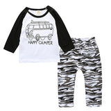 Newborn Infant Toddler Baby Boys Girls Fitted Clothes T-Shirts Tops + Pants