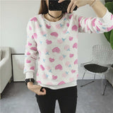 Christmas Sweaters Casual O-Neck Long Sleeve Stars Printed Warm Christmas