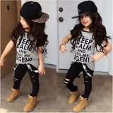 Toddler Kids Baby Girls T-shirt Pants Leggings Outfits Clothes 2-7T Baby Girls Clothing Set