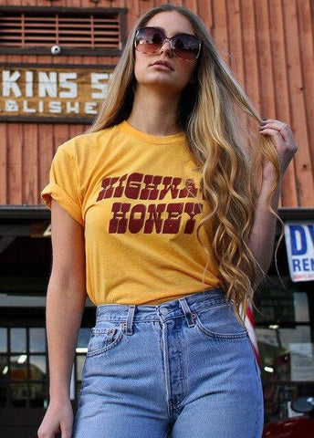 Highway Honey Tee Vintage Tshirt  70s 80s Graphic Tee - Outfitter Style