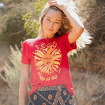 Red Sun Printed 1969 Jummer of The Fun Cotton T Shirts