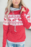 Fashion Xmas Casual Cotton Women Ladies Christmas Hoodie Sweatshirt