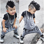 2pcs Newborn Toddler Infant Kids Baby Boy Clothes T-shirt Tops Short Sleeve + Pants