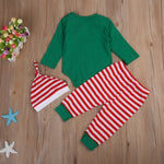 Toddler Baby Boys Girl Christmas Romper Tops Pants Leggings Hat Outfit Set Clothes
