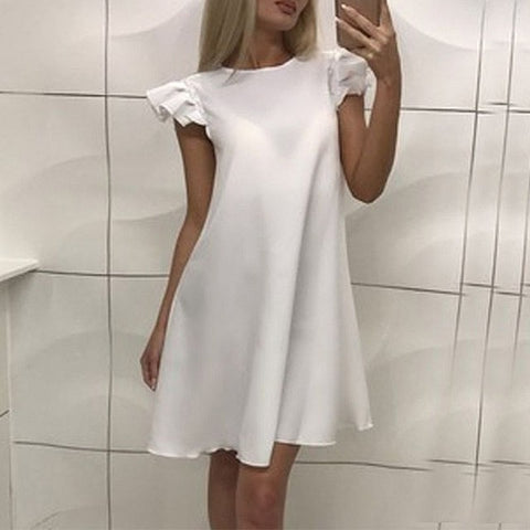 Summer Dresses Women Sleeveless O-neck Mini Dress