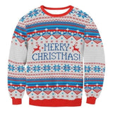 Xmas Pullovers Women Christmas ugly sweater Santa Tree Snowflake Print Sweater