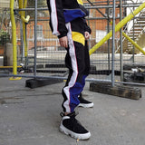 High Waist Patchwork Pants Streetwear Cargo Pants Loose Jogger Trousers