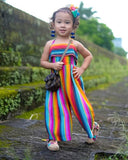 Striped Toddler Kid Baby Girls Romper Harem Pants Jumpsuit Outfit Clothes
