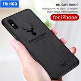 Deer 3D Soft TPU Magnetic Car Case For Apple iPhone XS Max Built-in Magnet Plate Case For iPhone X XS Cover