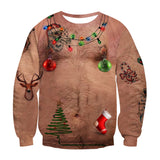 Ugly Christmas Sweater Unisex Men Women Vacation Santa Elf Pullover