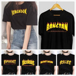 Kpop Flame Graphic Tee Casual t-shirt 90s Fashion Funny T-Shirt