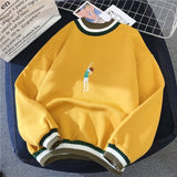 Velvet Sweatshirts Trendy Embroidery Cute All-match Pullover