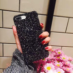 Bling Glitter Case for iPhone X XS Max 7 6 6S 8 Plus XR 5 SE Merry Christmas Hard Cover Shinning Sequins Phone Cases