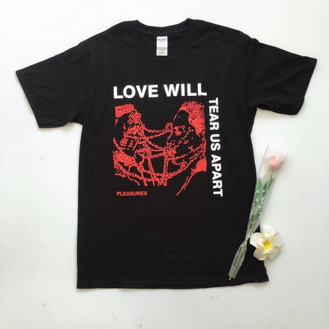 Love Will Tear Us Apart Unisex Fashion Grunge Black T SHirt