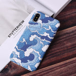 The Great Wave Vintage Cover Fashion Hard PC Graffiti Cases For iPhone 6 6Plus  7 7Plus 8 8Plus X