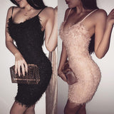 Women's Bandage Evening Party Sexy Club Wear Short Dress