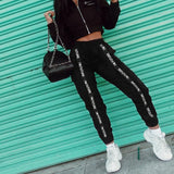 Harem Pants Trousers Women Jogger Sporting Elastic Waist Black Casual Combat Streetwear Fashion