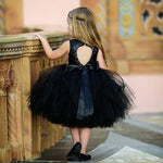 Newborn Kids Baby Sequins Sleeveless Tulle Tutu Dresses Backless Wedding Bridesmaid Party Dress Cute